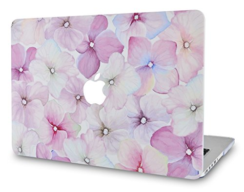 "LuvCase MacBook Pro 13 Case 2017 & 2016 Plastic Hard Shell Cover for MacBook Pro 13.3"" A1706 / A1708 with/without Touch Bar Cover (Flower 18)"