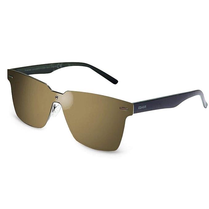 72142d81ecb OGASIR Rimless Sunglasses For Men Women- Futuristic Shield Polarized  Design