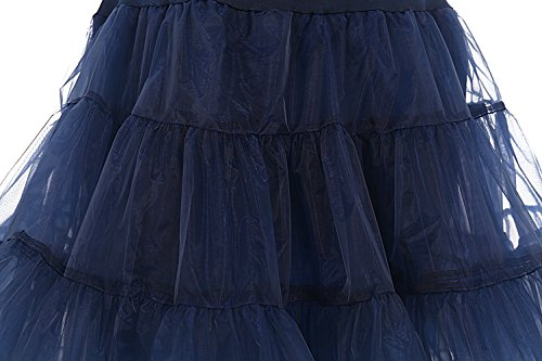 Donna Bbonlinedress 50s Navy Gonne Sottogonna Mini Organza Rockabilly Vintage 1awrxaUdq