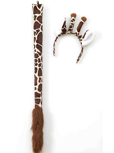 Giraffe Ears And Tail Set Adult Accessory