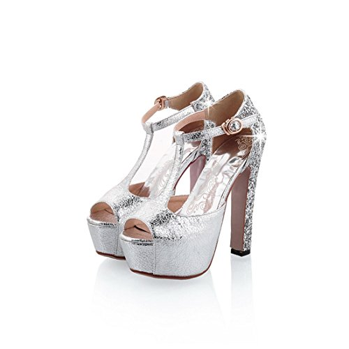 argenteo tacchi bocca impermeabile sandali e a tavoli 39 i sexy sandali violento sandali ai in night pesce i sandali spillo signore super sandali xnRPP1