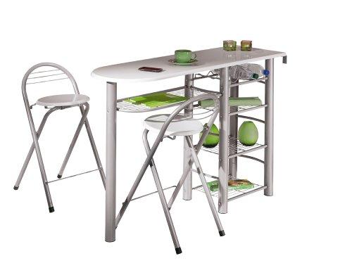 Links 50901190 Küchenbar weiß Küchentisch Küchentresen Tresen Tisch Küche Stühle Bistrotisch