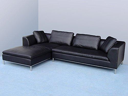 Design Ledergarnituren Ledersofa Voll-Leder Ecksofa-Sofa-Garnitur-Eckcouch 299-LSoH
