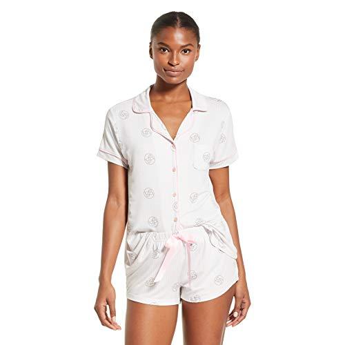 bebe Womens Pajama Sets Button Down Shirt and Shorts Sleepwear Lounge PJ Sets