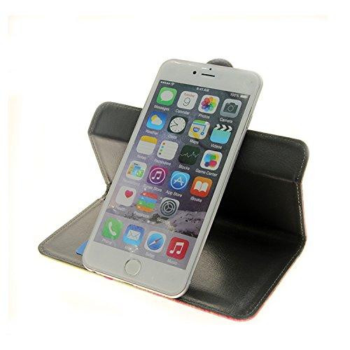 360° Wallet Case Schutz Hülle für Apple iPhone 6, ''smile'' | Smarpthone Flip cover Flipstyle Tasche - K-S-Trade (TM) (Wir zahlen Steuern in Deutschland!)