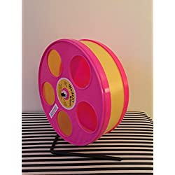 "8"" Wodent wheel - Pink Panels With Yellow Running Track"