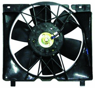 QP A7008-a Jeep Cherokee XJ Replacement AC A/C Condenser Radiator Cooling Fan/Shroud Assembly Aftermarket