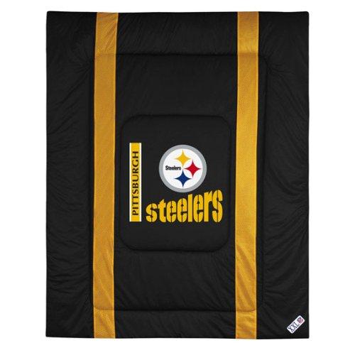 NFL Comforter - Queen Size - Pittsburgh Steelers (Black) (1