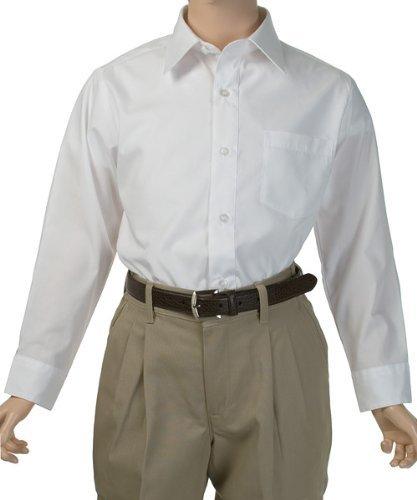 French Toast School Uniform Boys Long Sleeve Classic Dress Shirt, White, 4 by French Toast (Image #2)