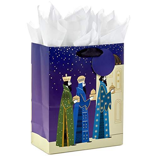 (Hallmark VIDA Medium Christmas Gift Bag with Tissue Paper (Three Kings))