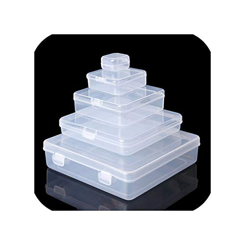 Square Transparent Plastic Jewelry Storage Boxes Beads Ring Box Earrings Case Necklace Organizer Make-up Table Box,6x6x1.8CM (Hawaii Five 0 Box Set 1 6)