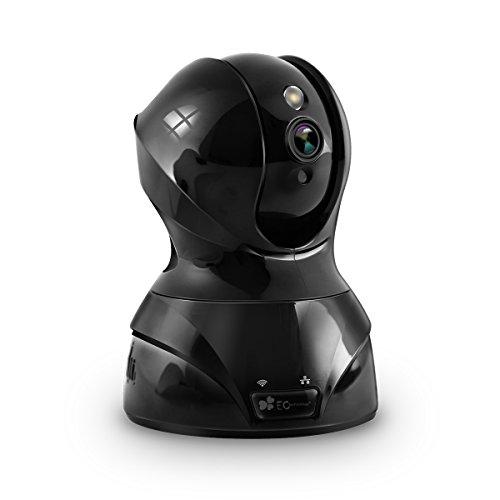 Caméra IP 720p Caméra de Surveillance EC Technology Caméra de Sécurité Babyphone en WiFi sans Fil Avec Microphones Bidirectionnels, Vision de Nuit par PIR, Détection de Mouvement, Moniteur Vidéo, Alerte d'information - Nior