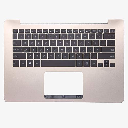 GAOCHENG Laptop Palmrest/&Keyboard for ASUS UX430 UX430U UX430UN UX430UA UX430UQ 13N1-2YA0C21 with Gold C Shell and Black keyboaed United States US 95/% New