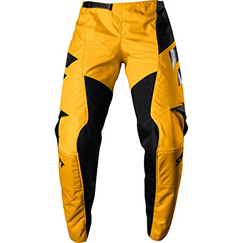 Shift Motorcycle Pants - Shift Racing Whit3 Ninety Seven Men's Off-Road Motorcycle Pants - 34 / Yellow