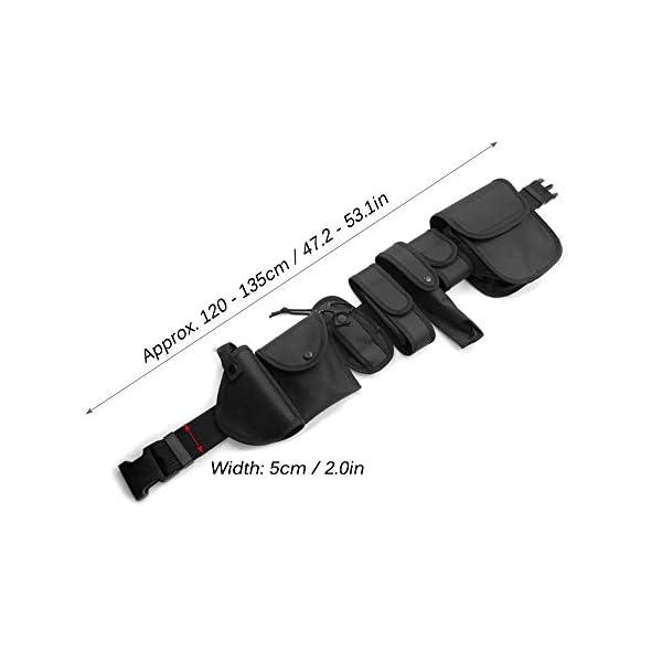 Lixada Cinturón Táctico de Ajustable Nylon Militar Utilidad Correa Kit Guardia de la Policía de Seguridad Formación 12