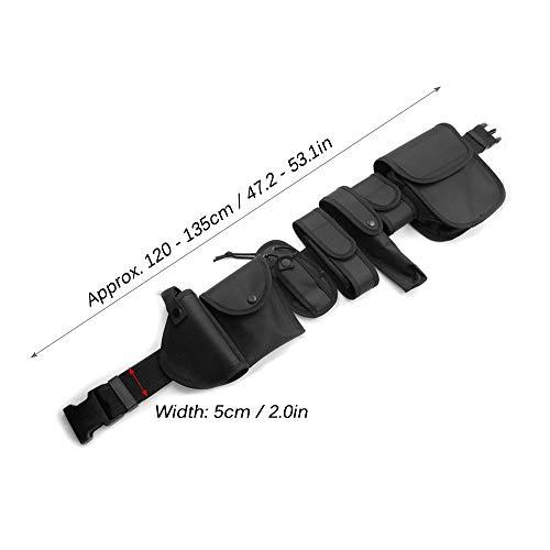 Lixada Cinturón Táctico de Ajustable Nylon Militar Utilidad Correa Kit Guardia de la Policía de Seguridad Formación 11