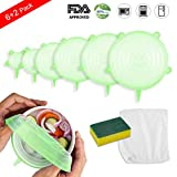 Silicone Stretch Lids Set, Oumers Kitchen Seal Food Saver Cover   Various Size