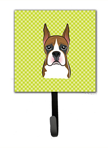 picture of Checkerboard Lime Green Boxer Leash or Key Holder BB1285SH4