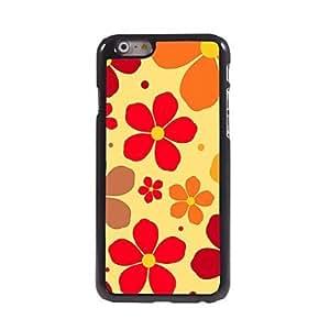 LCJ Lovely Flowers Pattern Aluminum Hard Case for iPhone 6