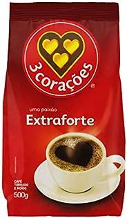 Café, Torrado e Moído, Extra Forte, Pacote, 500g, 3 Corações