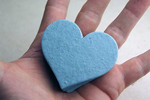 large-blue-heart-shape-seed-embedded-cotton-handmade-paper-tags