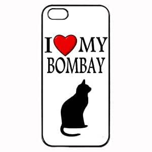 Pink Ladoo? Custom Bombay I Love My Cat Symbol Silohuette iPhone 4 4S Case Cover Hard Shell