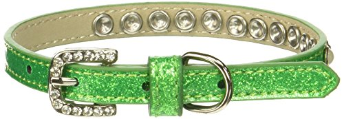 Mirage Pet Products Pearl and Jewel Ice Cream Collar, 12-Inch, Lime Green