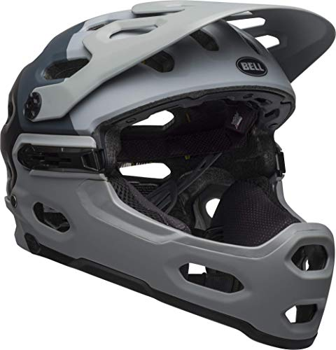 Bell Super 3R MIPS Adult MTB Bike Helmet (Downdraft Matte Gray/Gunmetal (2019), Large)