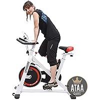 ATAA Bici Spinning con pantalla LCD, manillar y asiento ajustable semi profesional