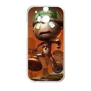 HTC One M8 Cell Phone Case White League of Legends Sad Robot Amumu SH3863542