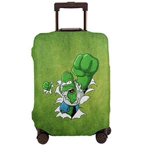 Anime The Simpsons Hulk Travel Luggage Cover Suitcase Protector Washable Baggage Luggage Covers Zipper Fits 29-32 Inch