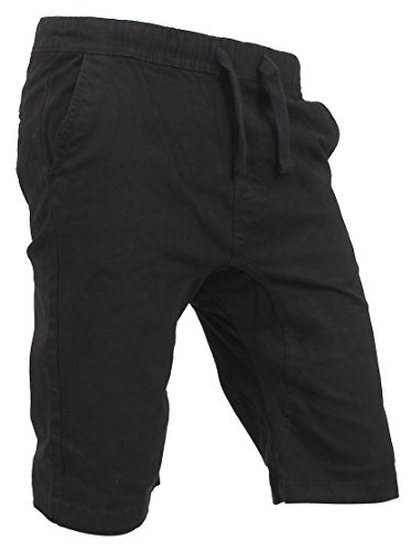 Twill Pant Short (RP5 TWILL SHORTS Active Casual Cotton Spandex Pants (Large, Black))