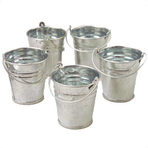 Mini Metal Buckets,Pack of 12 (Metal Pail Bucket)