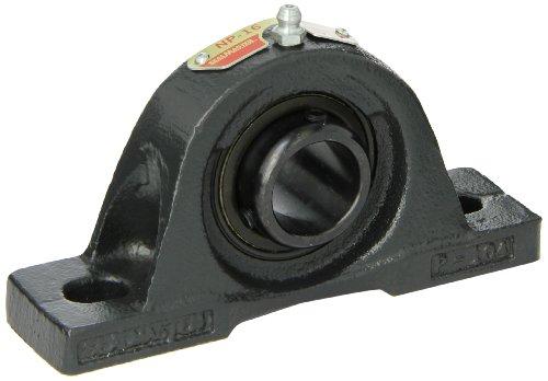 Sealmaster NP-16 Pillow Block Ball Bearing, Non-Expansion Type, Normal-Duty, Regreasable, Setscrew Locking Collar, Felt Seals, Cast Iron Housing, 1