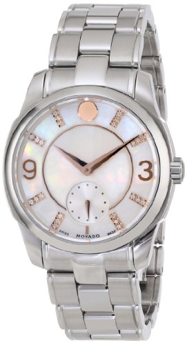 Movado Women s 0606619 Movado Lx White Mother-Of-Pearl Dial Watch