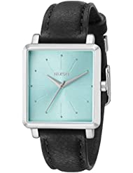 Nixon Womens A4722095 K Squared Analog Display Japanese Quartz Black Watch