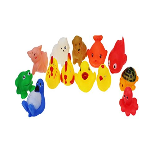 Sinfu 13pcs Baby Toy Education Rubber Animals With Sound Baby Shower Party Favors Toy Gift