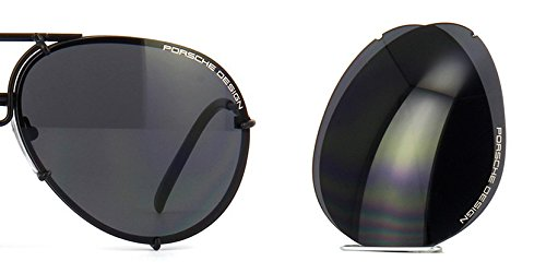 Original Porsche Design Lenses Set Only - For Model P8478-100% Authentic (V343 - Grey blue, 66)