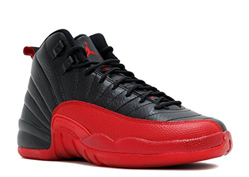 Jordan Kids Air 12 Retro BG, Black/Varsity Red, Youth Size 4