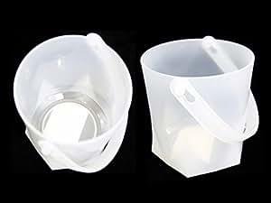 """ICE BUCKET W/HANDLE PLASTIC 4.7""""DIA*5.1""""H, Case of 72"""