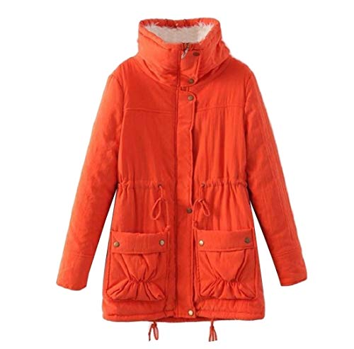 Cotton Coat Orange Wadded Plus Women's Outwear AngelSpace Casual Jacket Size xYOZTTw