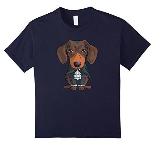 Dog Costume People (Kids Vampire Dachshund T-Shirt Funny Halloween Gift Shirt 12)