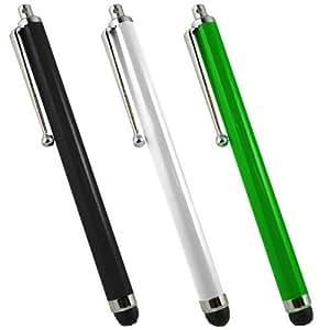 SAMRICK lápiz capacitivo de aluminio y lápiz capacitivo para HTC Droid Incredible - negro/blanco/verde (3 unidades)