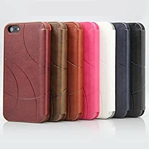 Special Design PU Leather Case for iPhone5/5S , Brown