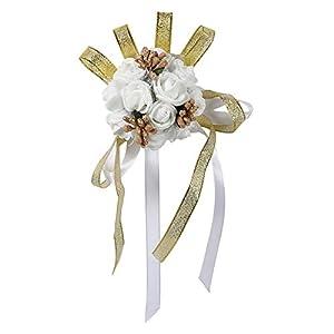 Wrist Flower, 1Pc Beautiful Hand Ribbon Flower Bridal Bridesmaid Wrist Corsage Prom Wedding Party Decorations 79