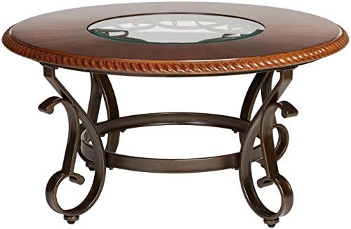 home, kitchen, furniture, living room furniture, tables,  coffee tables 10 on sale Ashley Furniture Signature Design - Gambrey Traditional Round Cocktail in USA