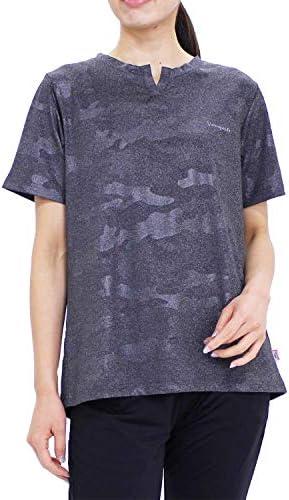 (バンスポーツ) エンボスクラウド柄後タック切替え半袖Tシャツ スポーツウエア ストレッチ UV加工 再帰反射 ロゴプリント
