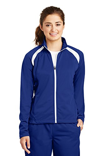 - Sport-Tek Women's Tricot Track Jacket XS True Royal/White