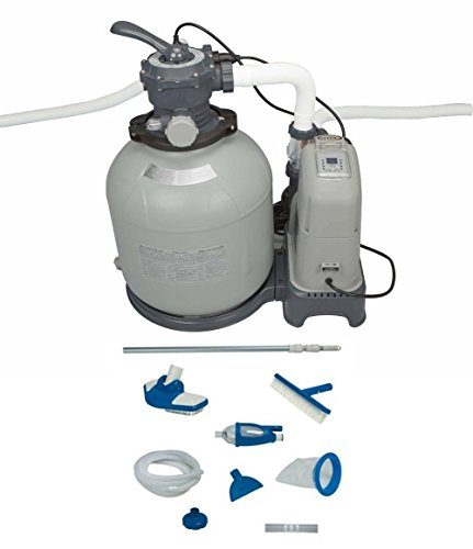 Intex 2650 GPH Sand Filter Pump & Saltwater System Set w/ Deluxe Maintenance Kit (Intex Salt Water Pump)