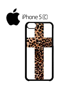Leopard Cross Religion Mobile Cell Phone Case Cover iPhone 5c Black